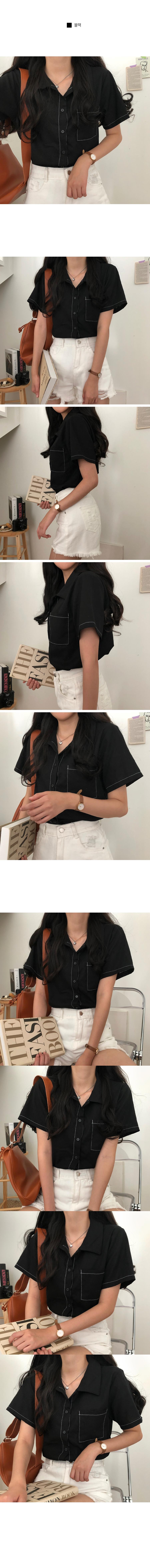 Photo Stitch Linen Box Shirt Shirt