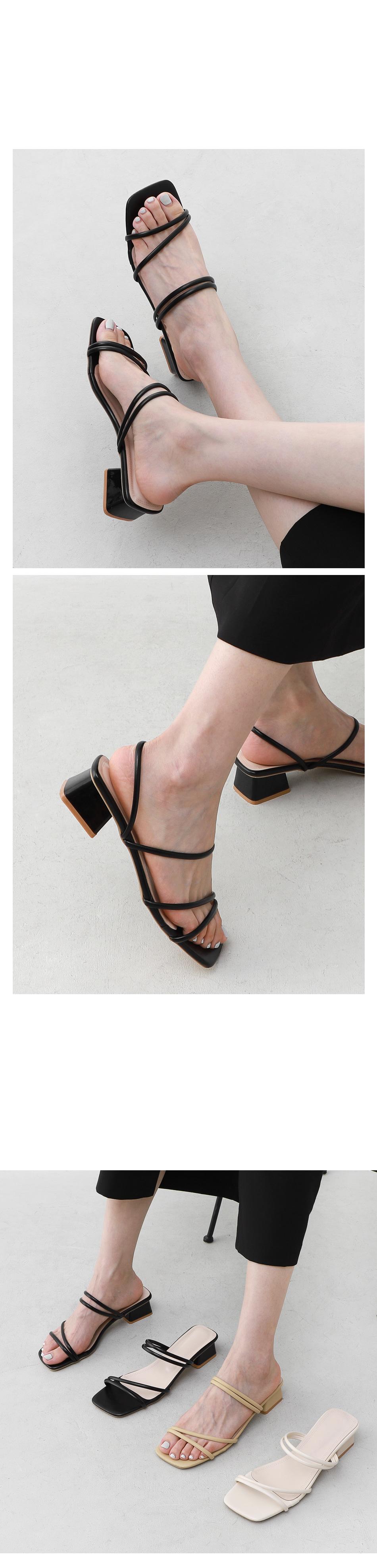 兩穿綁帶涼鞋(3.6cm) 11028
