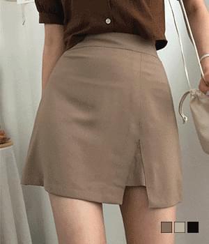 corn slit mini skirt