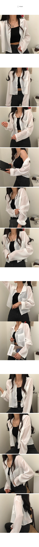 透膚短版襯衫