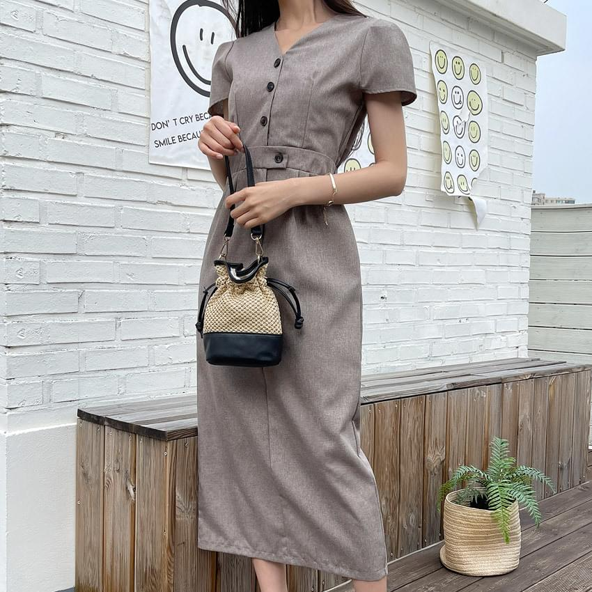 Aren Button Dress