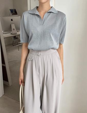 Lioni*Linen Collar Knitwear