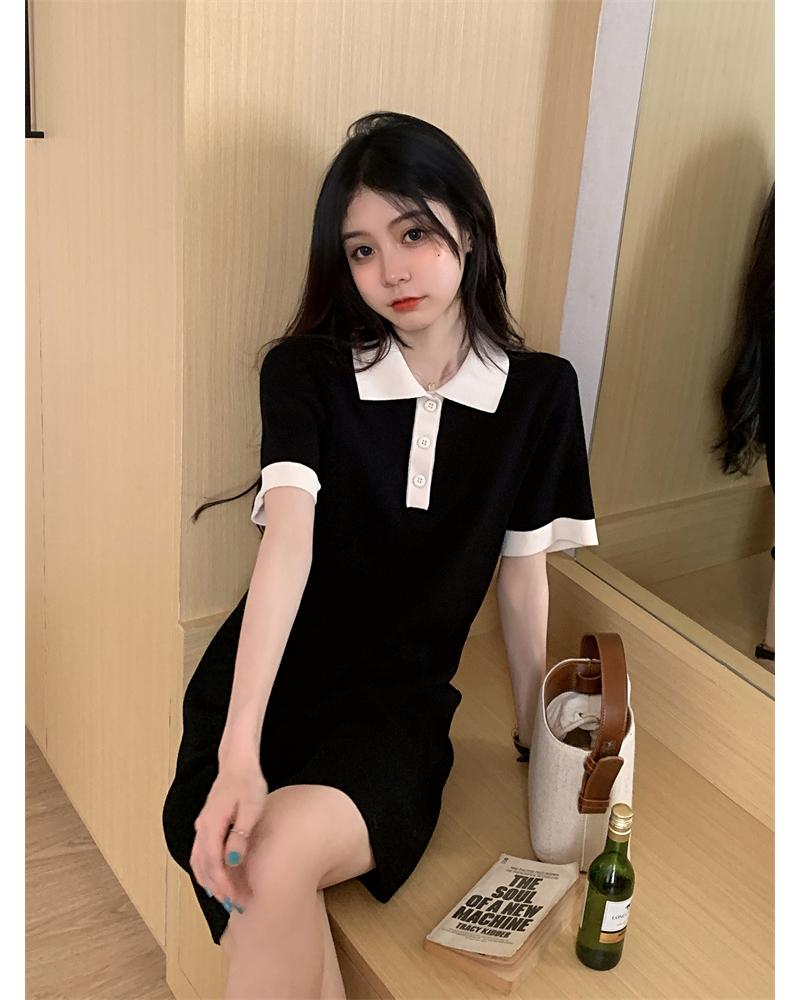 op5100 turro collar short sleeve Dress