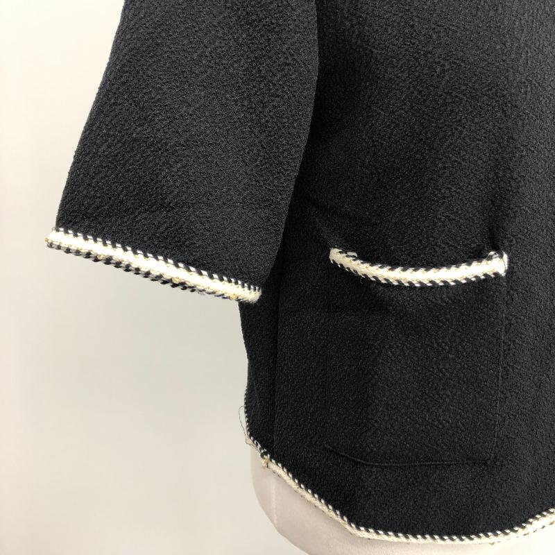 jk4817 cedes three button no collar jacket