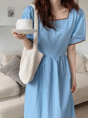 color matching denim Dress