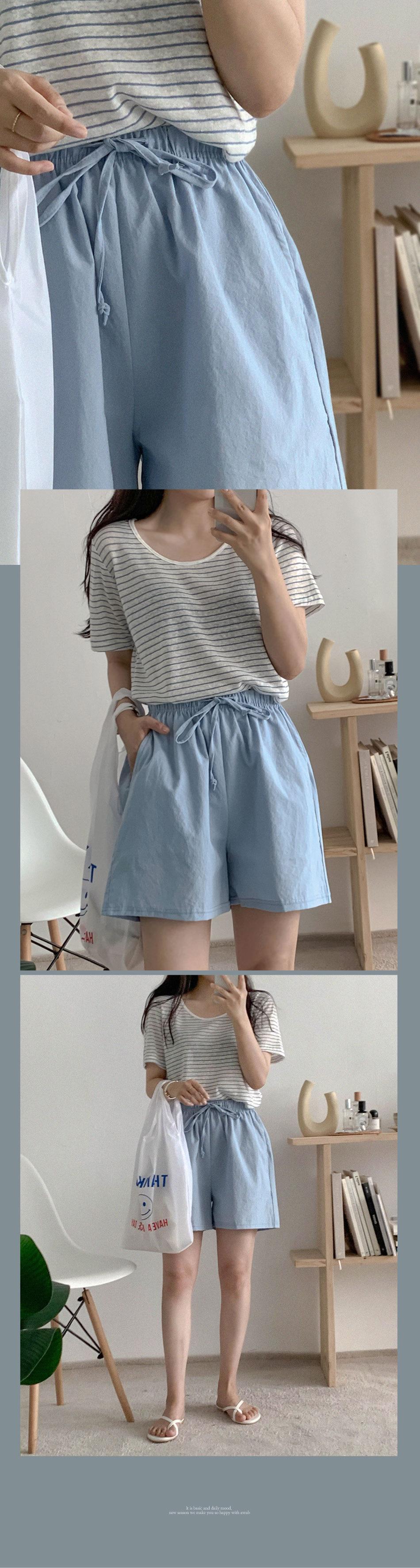 Shodie Banding Cotton Shorts