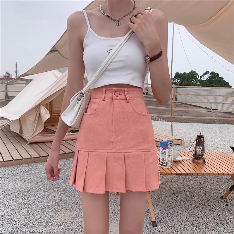 sk5122 ruji unique pleated skirt