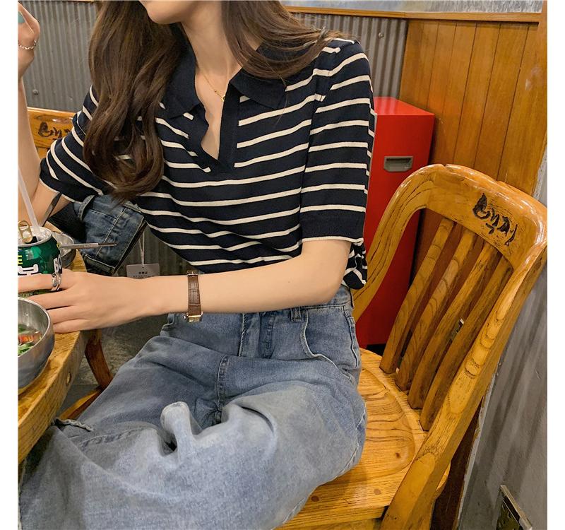 반팔 티셔츠 모델 착용 이미지-S1L5