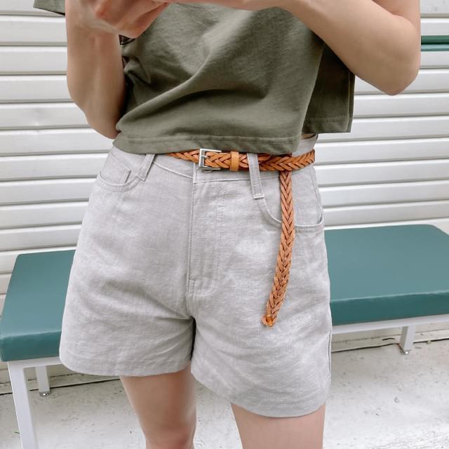 Tommy simple linen short pants