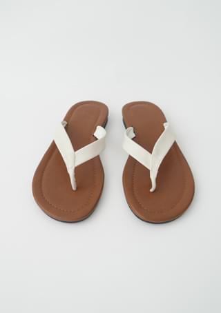 brown flat flip-flops