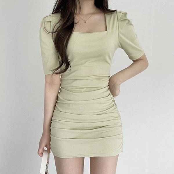 shirring mini Dress