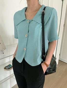 Petal collar jacket blouse