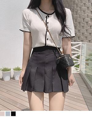 Tooney Pleated A-Line Pants Skirt