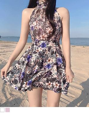Clar halterneck vacation jumpsuit Dress