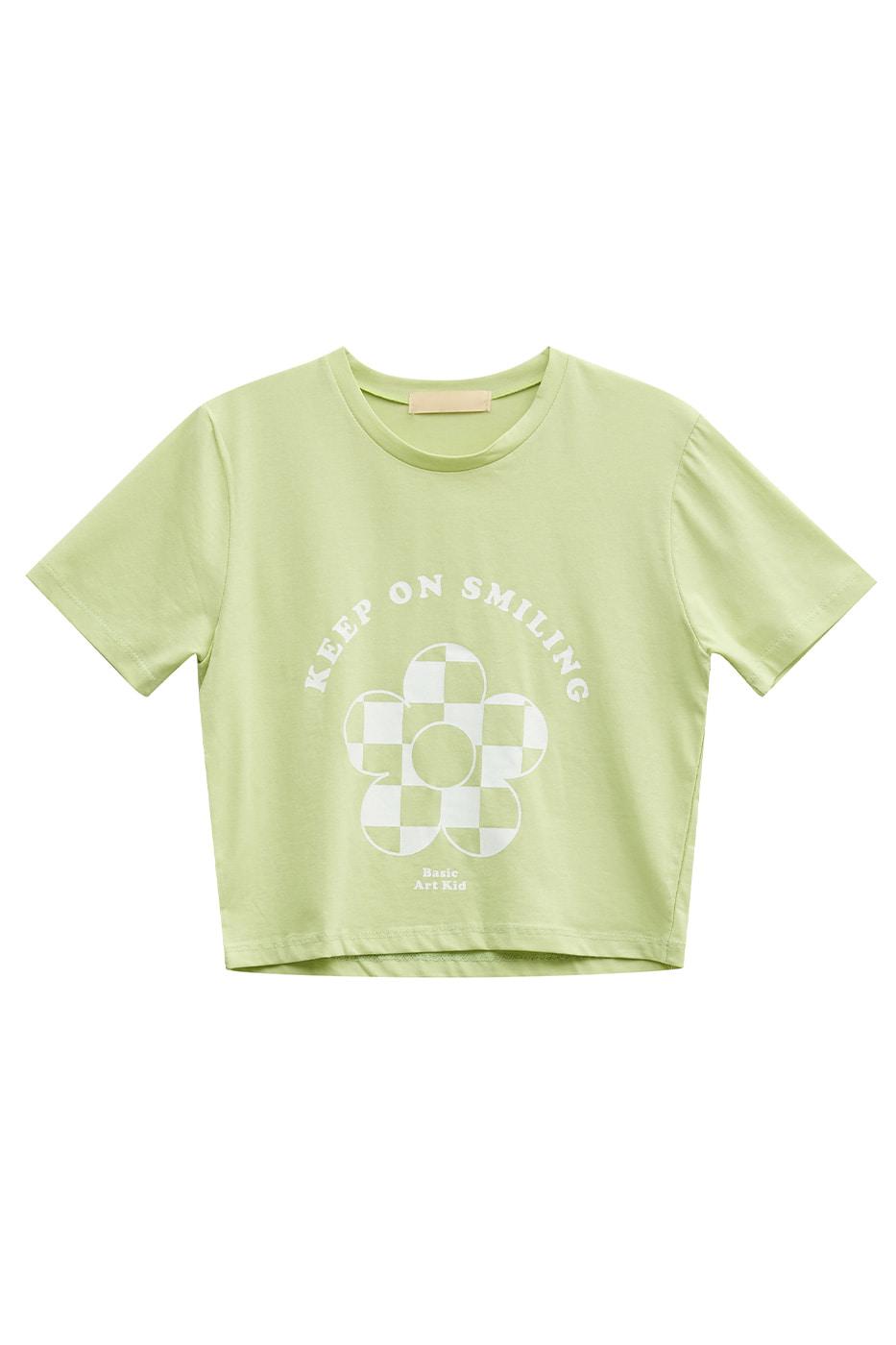 daisy print cropped T-shirt
