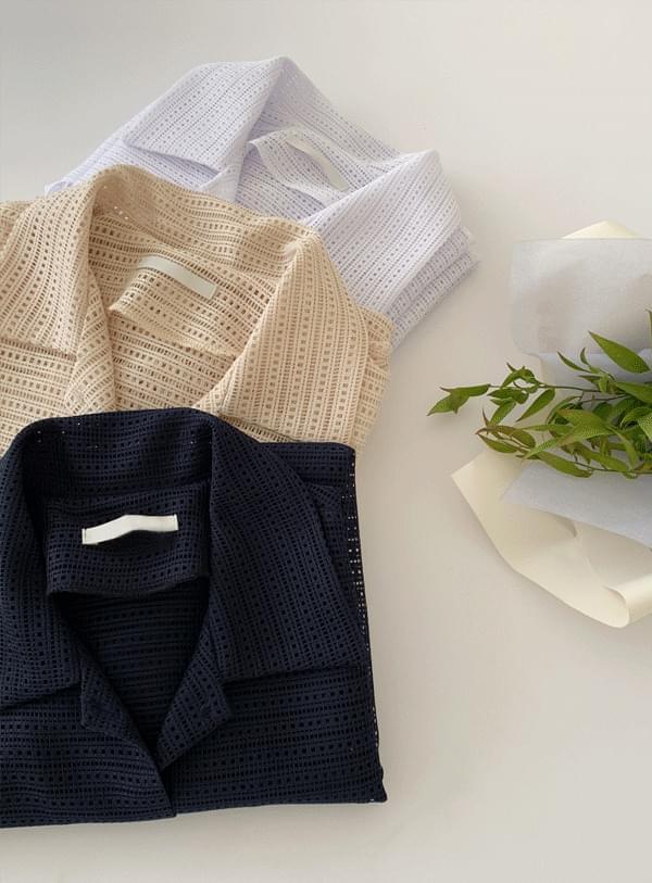 mesh see-through blouse