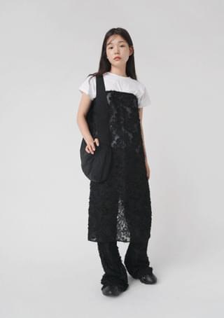 flower apron pants