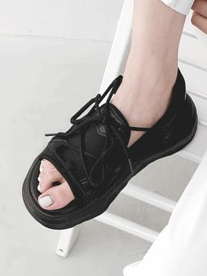 Ugly Sporty Lace-Up Whole Heel Sandals 11037