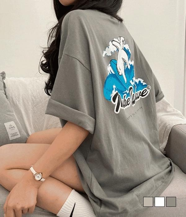 Surf Teddy Bear Overfit Short Sleeve T-shirt