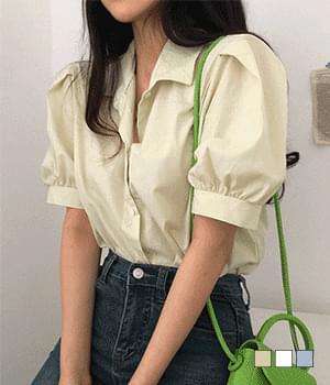 ramie puff shirt blouse