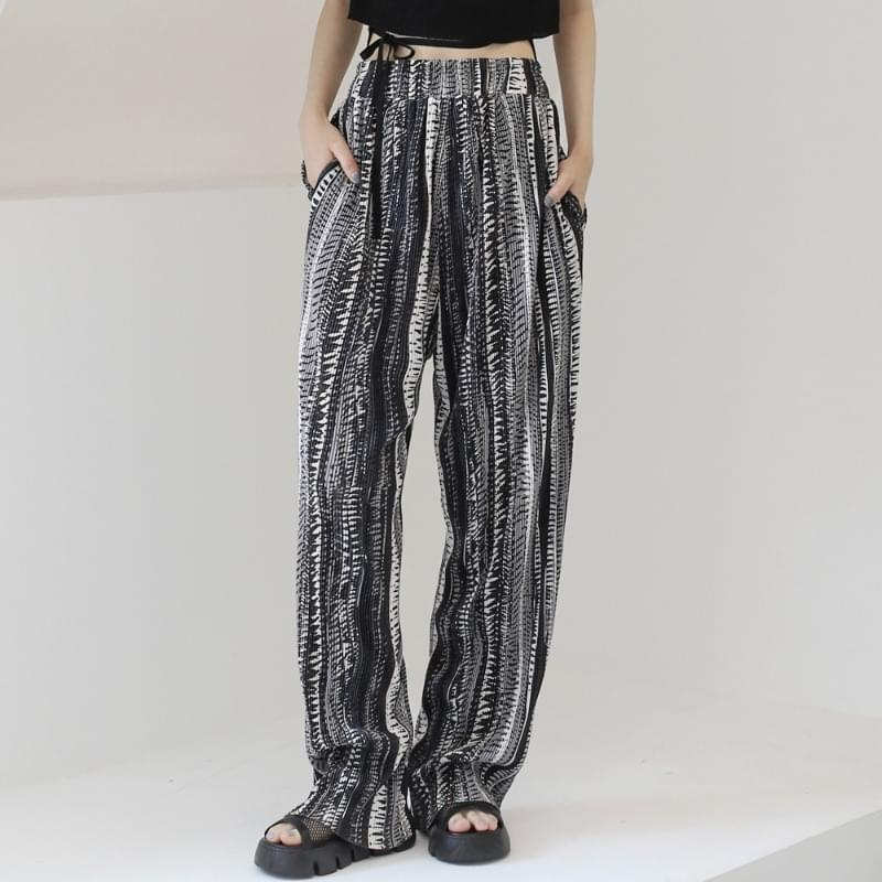 Gins Ethnic Pleated Pants