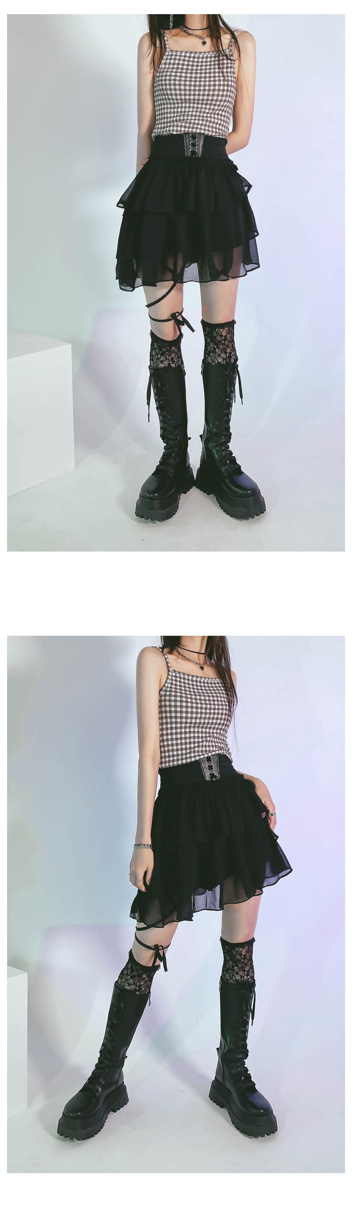 strap leary unbalance skirt