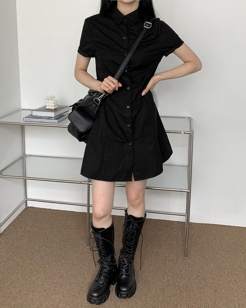 Focusing Collar Shirt Mini Dress 迷你短洋裝