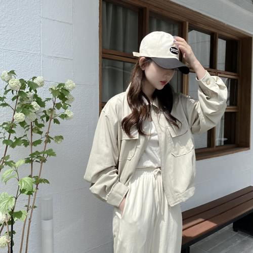 Planner Short Outdoor Jacket - Cream Beige Same Day Shipping