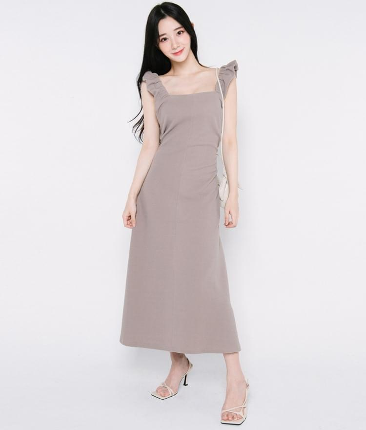 Frill Strap Long Dress