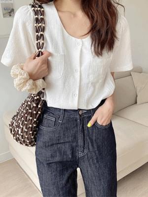 two pocket blouse