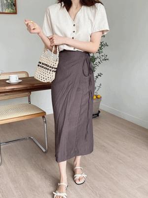 wrinkled wrap skirt
