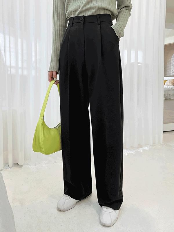 Aura Pintuck Wide Long Slacks