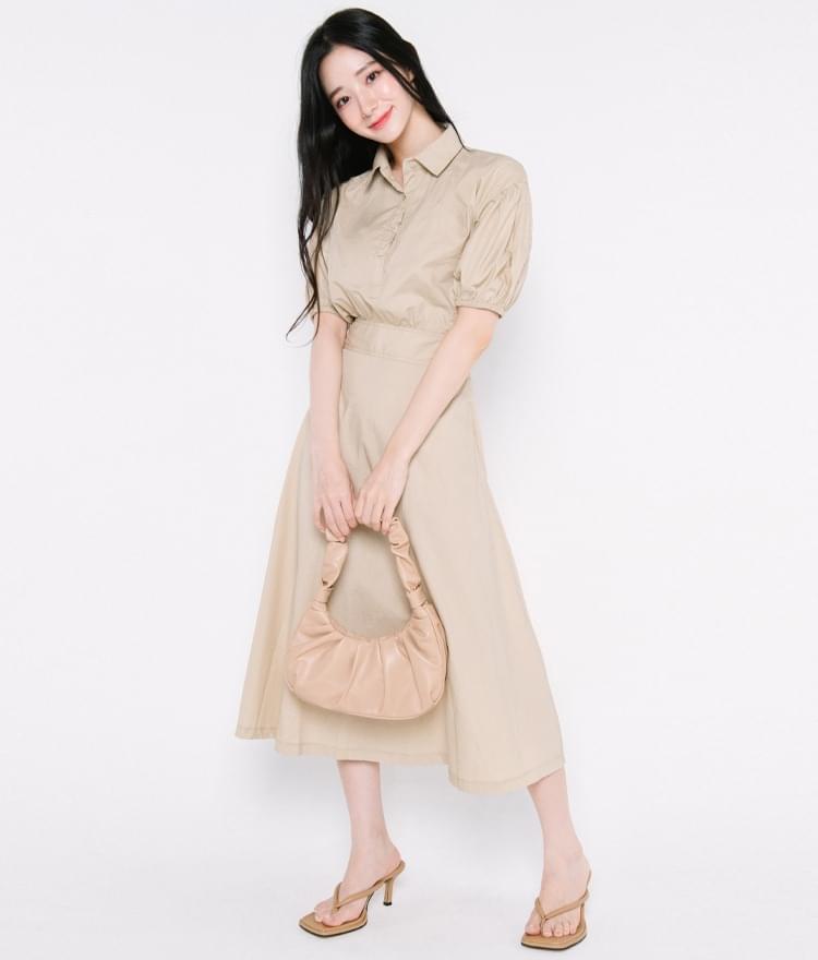 Tapered Waist A-Line Dress