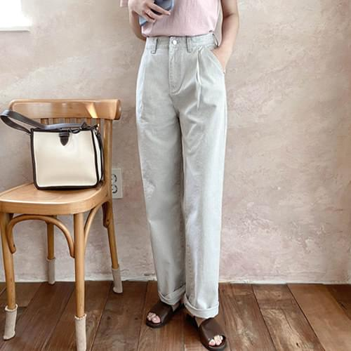 Ryan Faded Color Pin Tuck Wide Pants