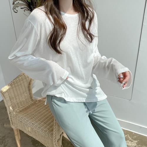 Sunny Basic Summer Long Sleeve T-shirt