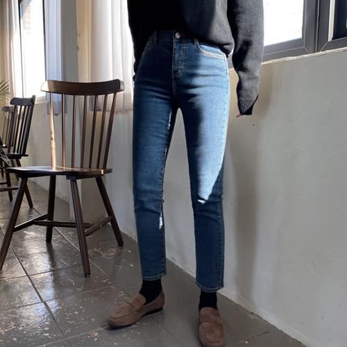 River Slim Date Denim Pants-Gray Blue L Same Day Shipping
