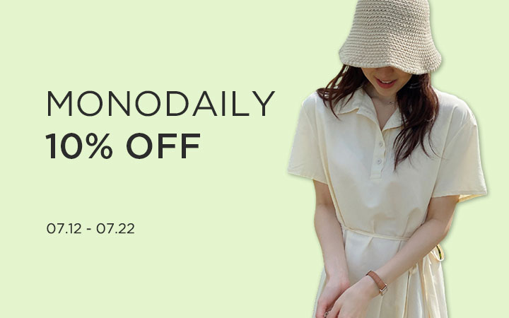 MONODAILY 10% OFF