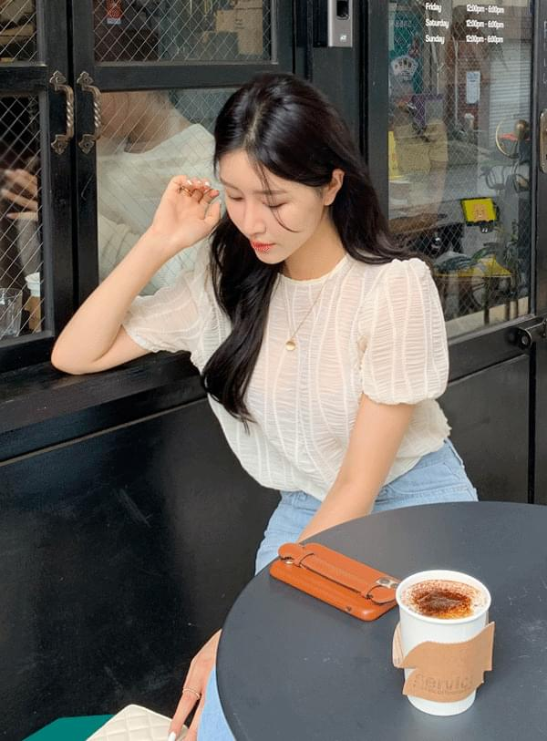 cover wrinkled blouse