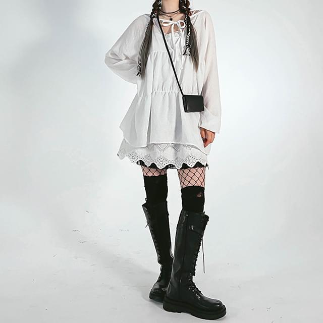 Bunny Long Blouse & Mini Dress