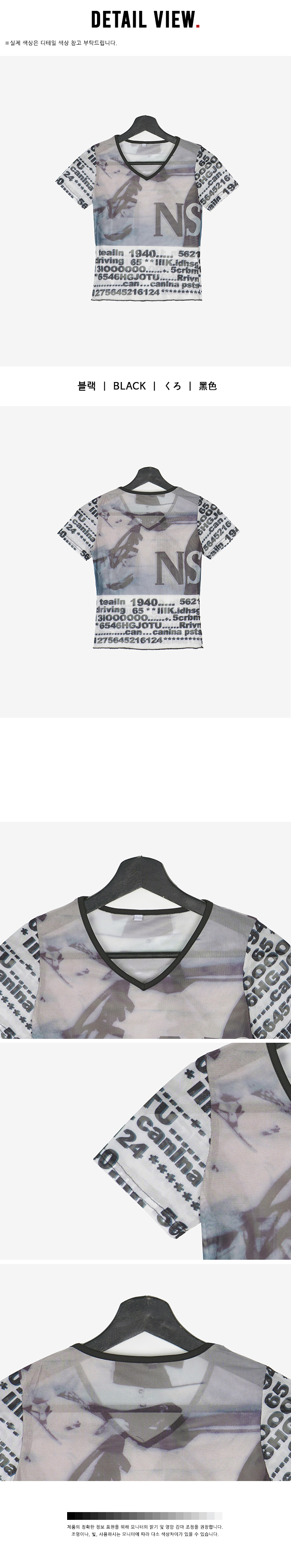 Appron Printing See-through Short Sleeve Tee