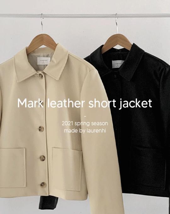 Mark Leather Short Jacket