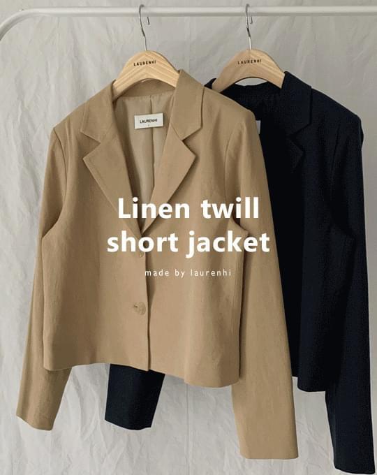 Kimmel Linen Twill Short Jacket - 2 color