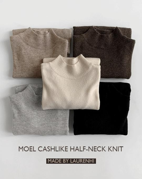 Moel Cashlike Van Turtleneck Knitwear - 5 color