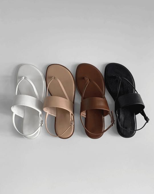 韓國空運 - Caned Short Strap Sandals - 4 color 涼鞋