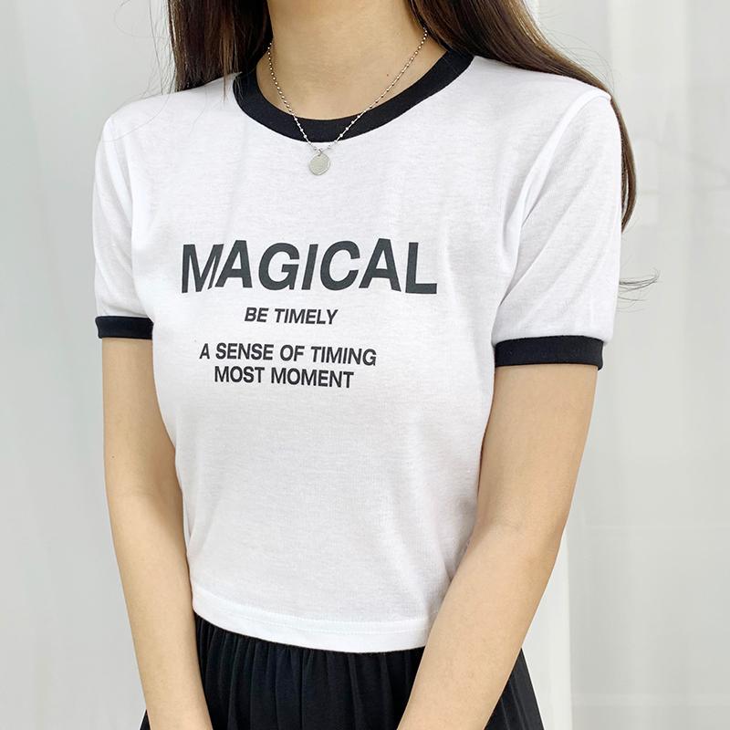 반팔 티셔츠 모델 착용 이미지-S1L13