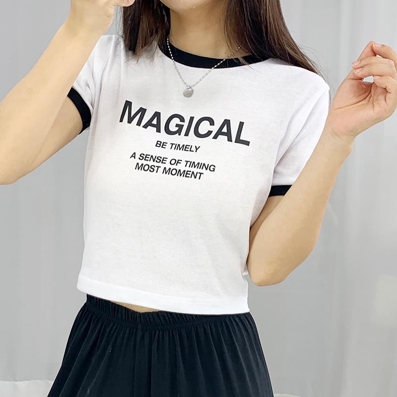 반팔 티셔츠 모델 착용 이미지-S1L11