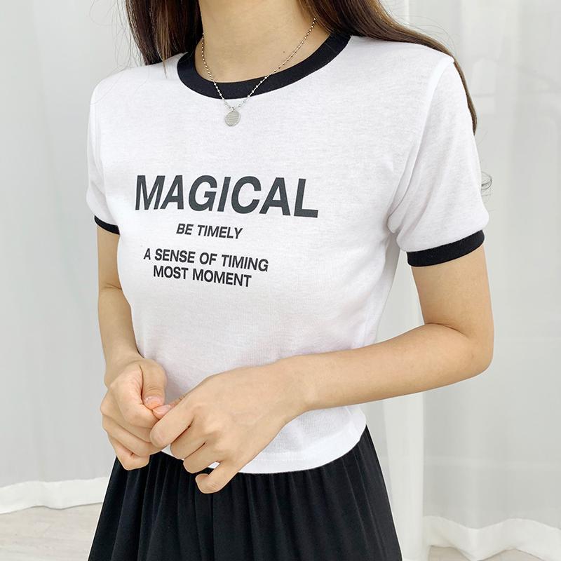 반팔 티셔츠 모델 착용 이미지-S1L14