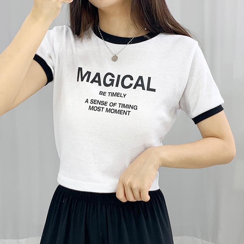 반팔 티셔츠 모델 착용 이미지-S1L12