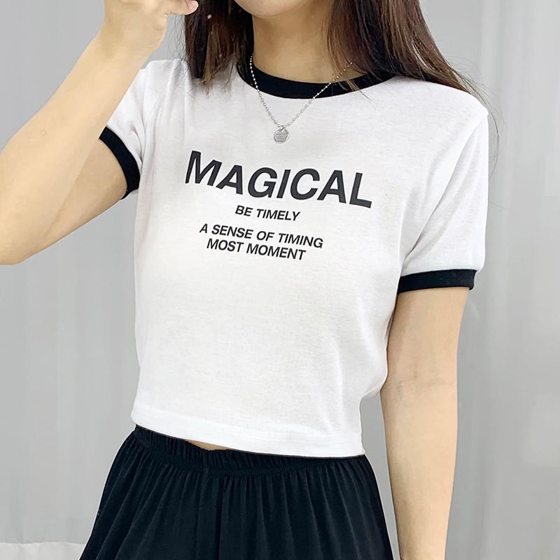 반팔 티셔츠 모델 착용 이미지-S1L16