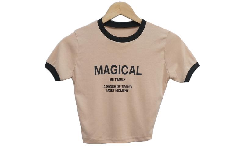 반팔 티셔츠 크림 색상 이미지-S1L9